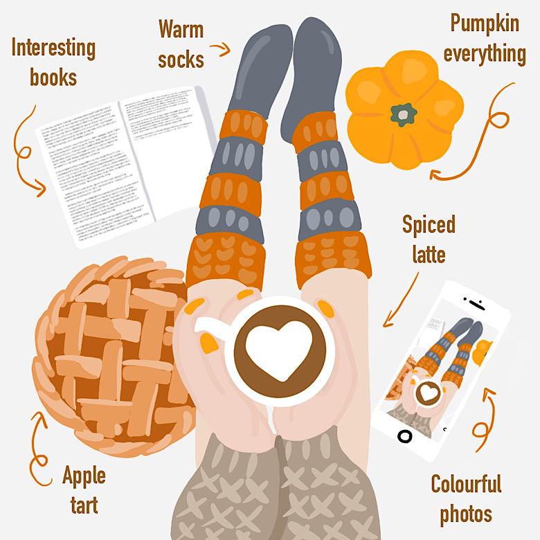 Infografiki - Infografika Things I love about Autumn
